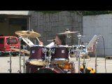 Sara 12 yrs domino line amp drum solo...